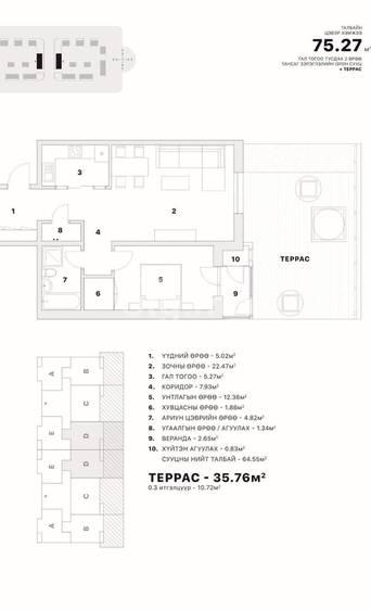 ID 2376, Khoroo 8 байршилд for sale зарын residential Apartment төсөл 1
