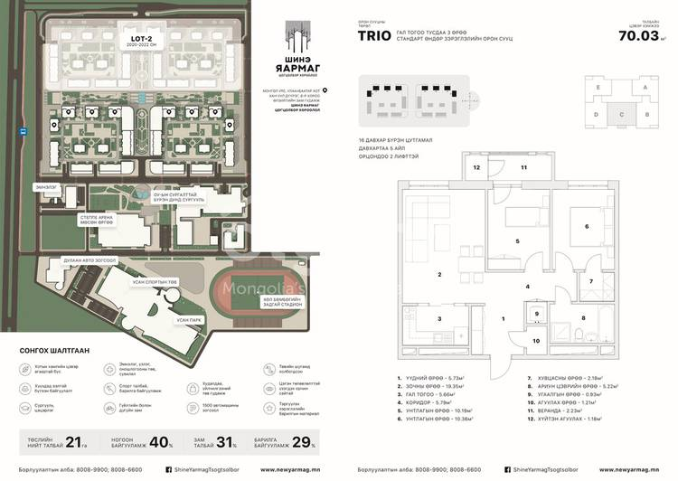 ID 2367, Khoroo 8 байршилд for sale зарын residential Apartment төсөл 1