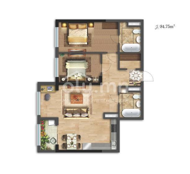 ID 2335, Khoroo 26 байршилд for sale зарын residential Apartment төсөл 1
