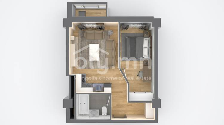 ID 2516, Khoroo 3 байршилд for sale зарын residential Apartment төсөл 1